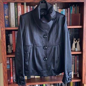 Zara Satin Look High Collar Jacket